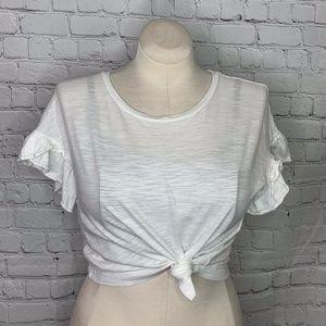 BANANA REPUBLIC: Cropped Slub T Shirt